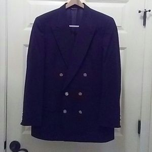 Mens double breasted navy jacket.